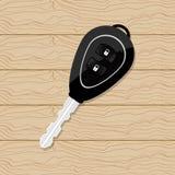 在木桌上的汽车钥匙 免版税库存照片