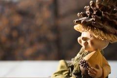 在木玩偶的早晨光 免版税库存照片