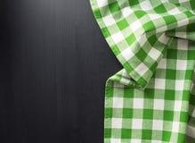 在木的布料餐巾 库存照片