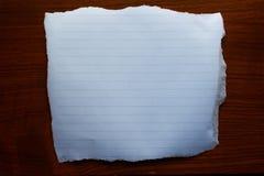 在木的纸 库存照片