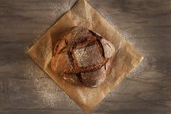 在木的荞麦面包 库存图片