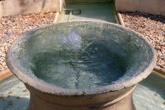 在木盆的水 免版税图库摄影
