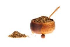 在木碗的混杂的香料 免版税库存照片