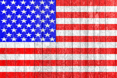 在木篱芭绘的美国旗子 政治概念 老纹理 葡萄酒设计 特写镜头非常eyedroppers高分辨率视图 美国的标志 免版税库存图片