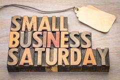 在木类型的小企业星期六 免版税库存图片