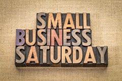 在木类型的小企业星期六 免版税库存照片