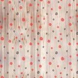 在木纹理无缝的样式的黑和红色螺旋 黑和红线在白色背景盘旋 几何回合 库存照片