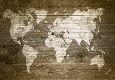 在木纹理的黄木樨草地图 向量例证
