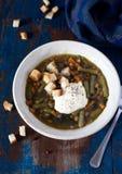 乡村模式的浓豌豆汤 免版税库存照片
