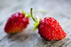 二个草莓 免版税库存照片