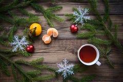 在木背景的圣诞节图片 库存照片
