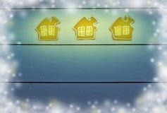 在木背景的圣诞节烘烤 构想:家庭comfor 免版税库存图片