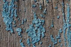 在木背景的老破裂的油漆样式 免版税库存照片