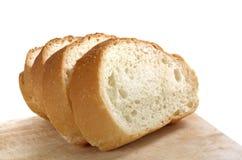 在木背景的面包 库存图片