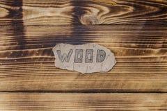 在木背景的题字 免版税库存图片