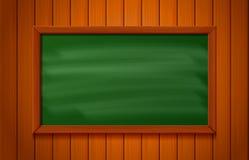 在木背景的黑板 向量例证