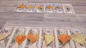 $在木背景的100个小组有文本的拷贝空间 库存照片