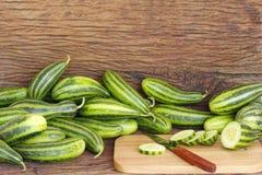 在木表的蔬菜 图库摄影