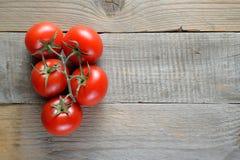 在木表的蕃茄 库存图片