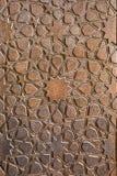 在木门的传统伊朗装饰品 免版税库存图片