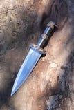 在木头的匕首 库存图片