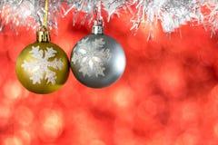 在木头的圣诞节装饰 库存图片