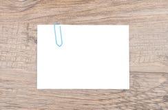 在木头的备忘录 免版税库存图片