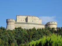在木头的意大利中世纪城堡 免版税图库摄影