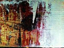 绘在木头的泼溅物 免版税库存照片