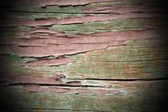 在木头的脏的被抓的绘画 库存图片