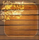 在木头的花卉葡萄酒装饰品 免版税库存图片