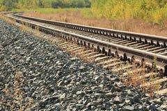在木头的铁路 免版税库存图片