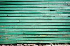 在木头的Pelling油漆 免版税库存图片