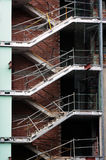 在未完成的大厦的楼梯 库存照片