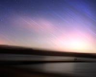在未知的行星的流星 免版税库存照片