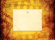 在本文的老filmstrip 库存照片