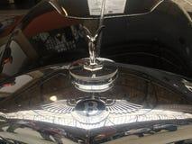在本特利汽车的帽子的飞行B装饰品 库存照片