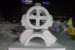 在札幌雪节日的雪雕 免版税库存图片