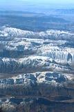 在札格罗斯山的鸟瞰图,伊朗 免版税库存照片