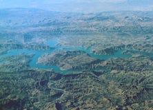 在札格罗斯山的鸟瞰图,伊朗 免版税图库摄影