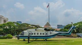 在朱拉隆功大学的直升机 库存图片