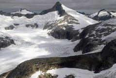 在朱诺附近的朱诺Icefields在阿拉斯加,美国 免版税库存图片