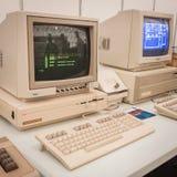 在机器人和制造商展示的葡萄酒计算机 免版税库存照片
