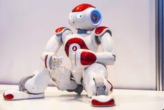 在机器人学商展的机器人2016年 免版税图库摄影