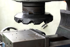 在机器的切割工具 库存照片