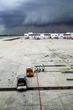 在机场,曼谷,泰国风化系统辗压  免版税库存照片