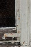 在朽烂的老窗口 库存图片