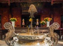 在权国Thanh寺庙的香炉 库存图片