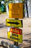 在杆的波兰标志 库存照片