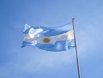 在杆的阿根廷标志 库存图片